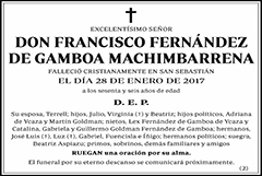Francisco Fernández de Gamboa Machimbarrena